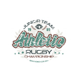 Rugby emblem with shabby texture vector image vector image