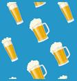 seamless pattern mug of beer vector image
