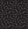 seamless pattern with linear glasses vector image