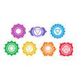 set chakra symbols vector image
