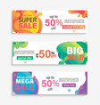 set horizontal liquid abstract sale banners vector image
