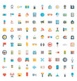 set of 100 social media icons flat design - part vector image vector image