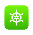 ship wheel icon digital green vector image vector image
