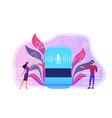smart speaker apps marketplace concept vector image