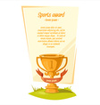 Sports Award Background vector image