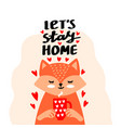 stay home card vector image