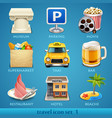 travel icon set-1 vector image vector image
