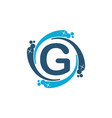 water clean service abbreviation letter g vector image