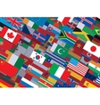 World Flag Background Ready for Your Text Design vector image vector image