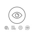 eye line icon look or optical vision sign vector image