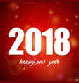 2018 simple typography banner with light and red vector image