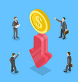3d isometric flat concept financial vector image