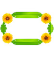 A floral border design vector image vector image