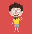 abstract boy character design vector image vector image