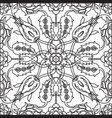 arabesque vintage decor floral ornate seamless vector image