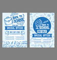 back to school sale special offer posters vector image vector image