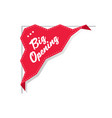 big opening sticker coronavirus quarantine is over vector image