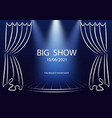 big show poster template announcement template vector image vector image