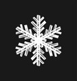 brushed isolated snowflake vector image vector image