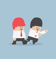 Businessman trip his friend up vector image vector image