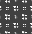 card suit Icon sign Seamless pattern on a gray vector image vector image