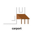 carport for cars at home vector image