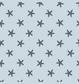 cartoon seamless starfish pattern on blue vector image vector image