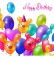 Celebratory background happy birthday vector image