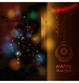 Christmas tree blurred background vector image