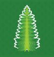 christmas tree pine tree isolated on vector image