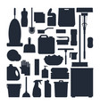 cleaning service silhouettes set house cleaning vector image
