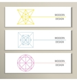 Collection of modern trendy geometric shapes vector image