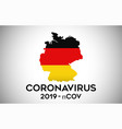 coronavirus in germany and country flag inside vector image vector image