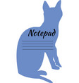 cover of the notebook with a cat vector image