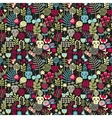 Cute skulls seamless pattern vector image vector image
