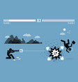 destroying business competitor with a bazooka vector image