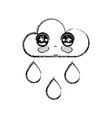 Figure kawaii nice tender cloud raining