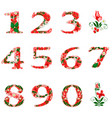 figures with a pattern on a white background vector image vector image