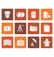 Flat Photography equipment icons vector image vector image