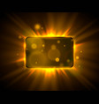 frame yellow sign board shiny bar show banner vector image vector image