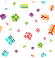 gift seamless pattern birthday christmas vector image