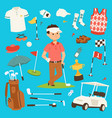 golf player clothes and accessories vector image vector image