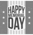 Happy Memorial Day Poster Template with Text vector image vector image