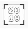 happy new year 2019 card vector image