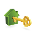 house symbol and key vector image vector image