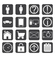 human activity black white icons vector image