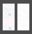 invitation greeting cards set vector image