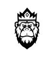 king kong mascot logo silhouette version gorilla vector image vector image
