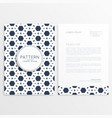 letterhead template with abstract hexagon pattern vector image vector image