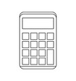 math calculator device vector image vector image